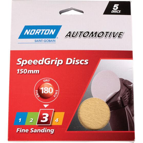 Norton Speed Grip Disc 180 Grit 150mm 5 Pack, , scanz_hi-res