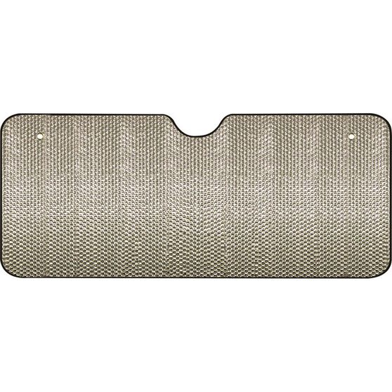 Extra Wide Bubble Sunshade - Silver, Accordion, Front, , scanz_hi-res