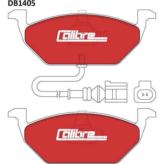 Calibre Disc Brake Pads - DB1405CAL, , scanz_hi-res
