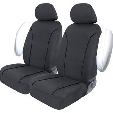 SCA Canvas Seat Covers - Charcoal/Grey, Adjustable Headrests, Size 30, Front Pair, Airbag Compatible, , scanz_hi-res