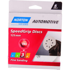 Norton Speed Grip Disc 180 Grit 125mm 5 Pack, , scanz_hi-res