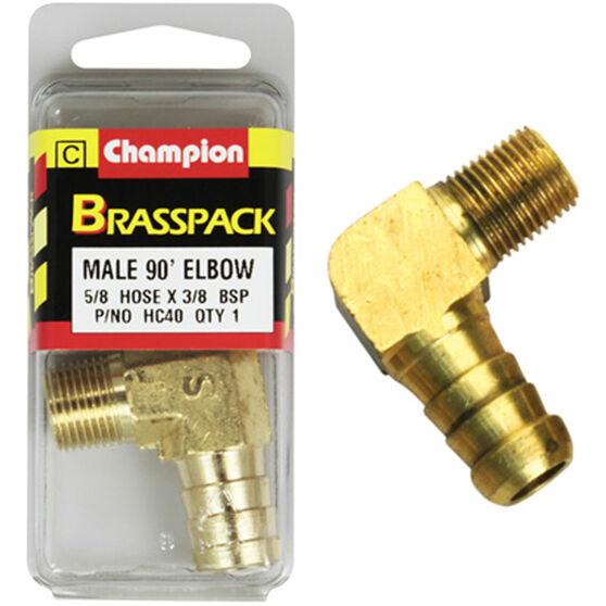 Champion Male Elbow 90° - 5/8 x 3/8 Inch, Brass, , scanz_hi-res