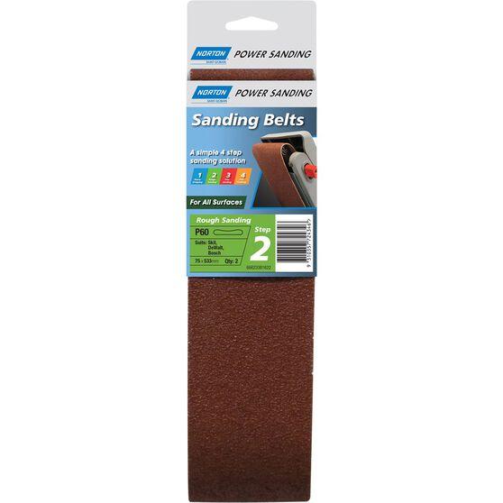 Norton Sanding Belt - 60 Grit, 2 Pack, , scanz_hi-res