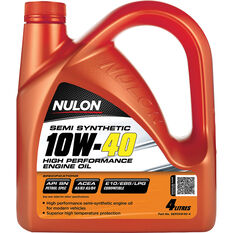 Nulon Semi Synthetic High Performance Engine Oil 10W-40 4 Litre, , scanz_hi-res