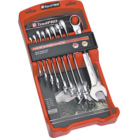 ToolPRO Spanner Set - Combination, 9 Piece, Imperial, , scanz_hi-res