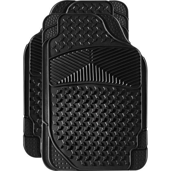 SCA Car Floor Mats 2 Pack - Rubber, Black, Front, , scanz_hi-res