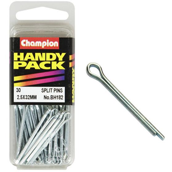 Champion Split Pins - 2.5mm X 32mm, BH182, Handy Pack, , scanz_hi-res
