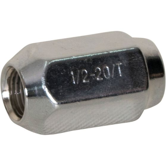 Calibre Wheel Nuts , Tapered, Chrome, For Ford Falcon BA-BF-FG - SN12FG, 1 / 2 inch, , scanz_hi-res
