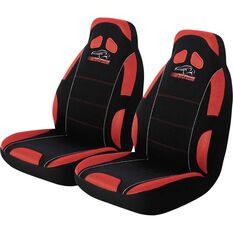 Performance Racing Seat Covers - Red, Built-in Headrests, Size 60, Front Pair, Airbag Compatible, , scanz_hi-res