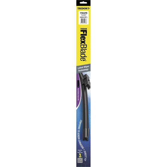 Tridon Flex Blade Single Wiper - 22in, Push Button, , scanz_hi-res