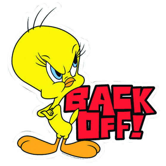 Hot Stuff Sticker - Tweety Back Off, Vinyl, , scanz_hi-res