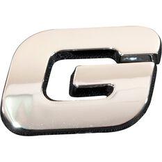 3D Chrome Badge - Letter G, , scanz_hi-res