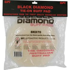 Black Diamond Sheepskin Buff Pad - 180mm, 7 inch, , scanz_hi-res
