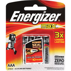 Energizer Max AAA Batteries - 4 Pack, , scanz_hi-res