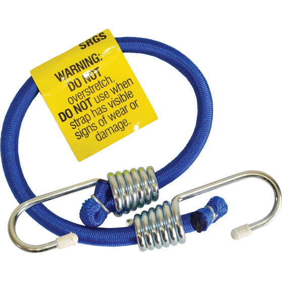 SCA Metal Hook Bungee Cord - 45cm, Blue, , scanz_hi-res