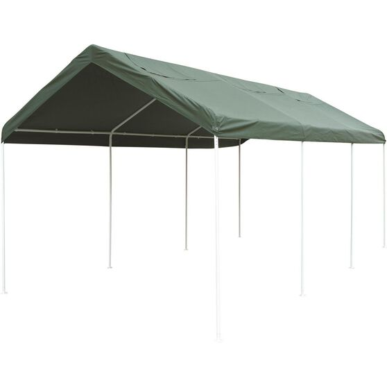 CoverALL Carport Replacement Tarp - Deluxe, Green, 3 x 6m, , scanz_hi-res