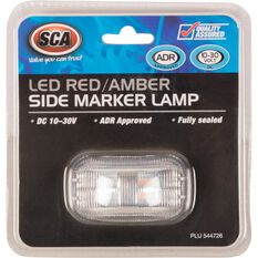 SCA Side Marker - LED, Red / Amber, 10-30V, , scanz_hi-res