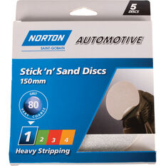 Norton Sticky Disc 80 Grit 5 Pack, , scanz_hi-res