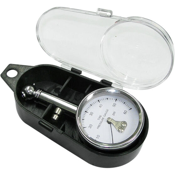 SCA Dial Tyre Gauge w / Case - 0-60 PSI, , scanz_hi-res