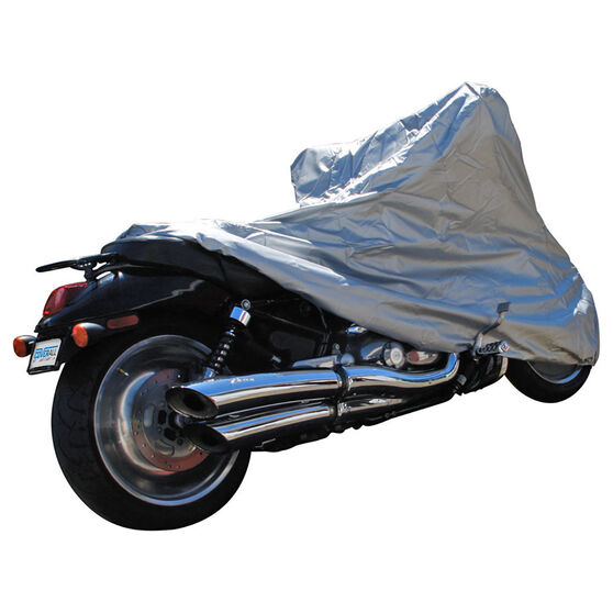 CoverALL Motorcycle Cover Silver ProtectionWater Resistant - Large, Suits 1000-1500cc, , scanz_hi-res