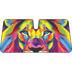 Colourful Lion Sunshade - Fashion Accordion Front, , scanz_hi-res