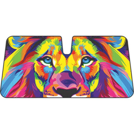 Colourful Lion Sunshade Fashion Accordion Front, , scanz_hi-res