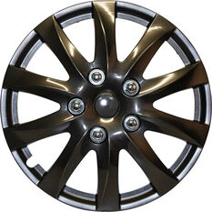 SCA Wheel Covers - Titanium, Silver, 15in, Set of 4, , scanz_hi-res