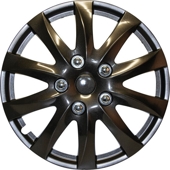 "SCA Wheel Covers - Titanium Gunmetal 15"" Set of 4, , scanz_hi-res"