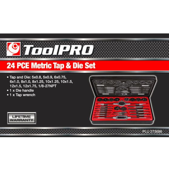 ToolPRO Tap and Die Set - Metric, 24 Piece, , scanz_hi-res