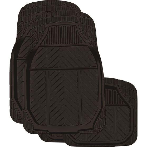 Ridge Ryder Deep Dish Car Floor Mats 4 Pack - Rubber, Black, , scanz_hi-res