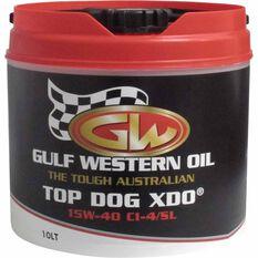 Gulf Western Top Dog XDO Diesel Engine Oil - 15W-40 10 Litre, , scanz_hi-res