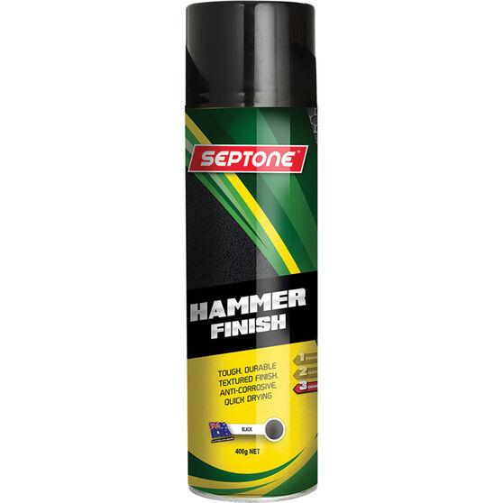 Septone Hammer Finish Paint Metallic Black 400g, , scanz_hi-res