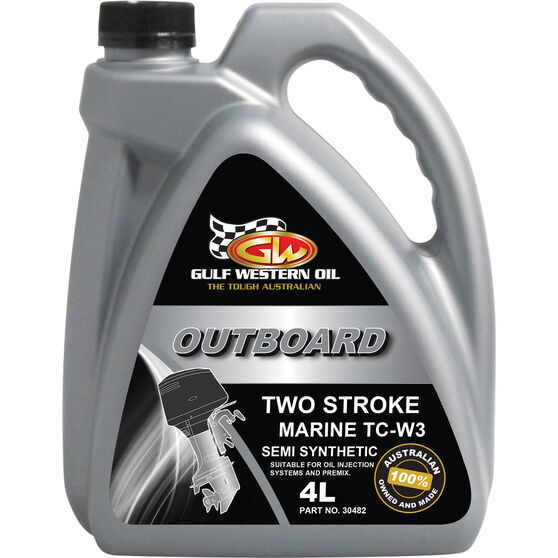 Gulf Western Outboard Oil - 2 Stroke, 4 Litre, , scanz_hi-res