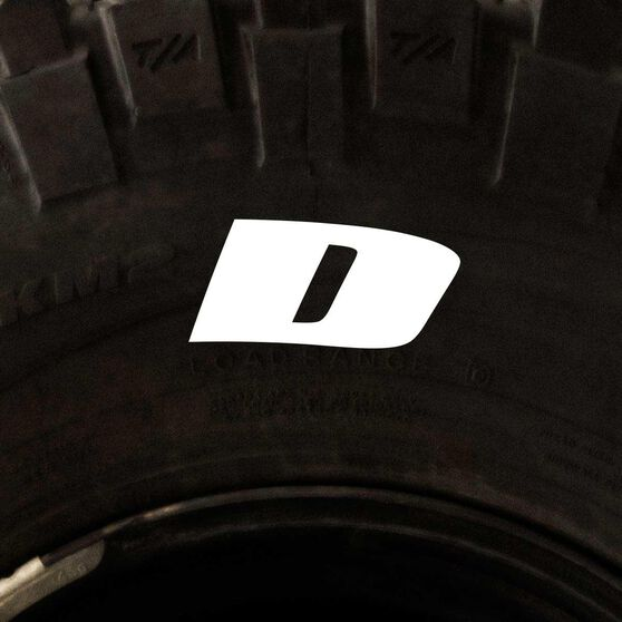 Tire Stickers - Letter D, , scanz_hi-res