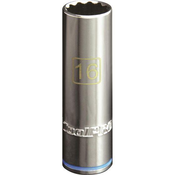 """ToolPRO Single Socket Deep 1/2"""" Drive 16mm, , scanz_hi-res"""