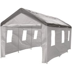 CoverALL Carport Side Wall Enclosure Kit -White, 4 Piece, , scanz_hi-res