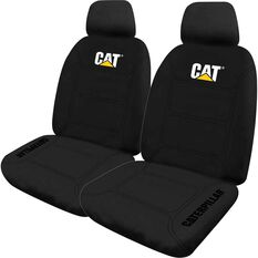 Caterpillar Neoprene Seat Covers - Black, Adjustable Headrests, Size 30, Front Pair, Airbag Compatible, , scanz_hi-res