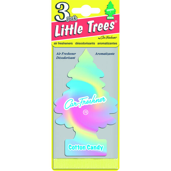 Little Trees Air Freshener - Cotton Candy, 3 Pack, , scanz_hi-res