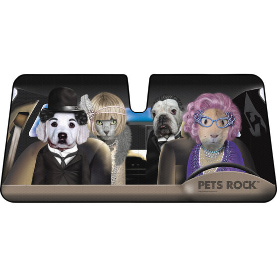 Pets Rock Sunshade - Fasion, Accordion, Front, , scanz_hi-res