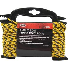 SCA 3 Strand Twist Poly Rope - 4mm X 30m, , scanz_hi-res