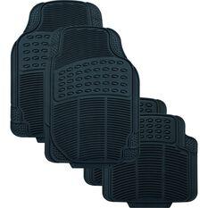 SCA Defend Car Floor Mats - Rubber, Black, Set of 4, , scanz_hi-res