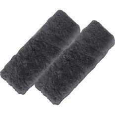 Seat Belt Buddies - Sheepskin, Black, Pair, , scanz_hi-res