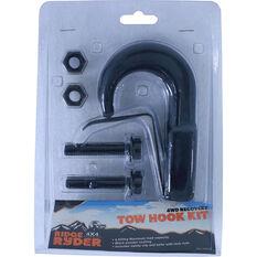 Tow Hook Kit - Black, 4500kg, , scanz_hi-res