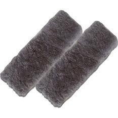 Seat Belt Buddies - Sheepskin, Charcoal, Pair, , scanz_hi-res