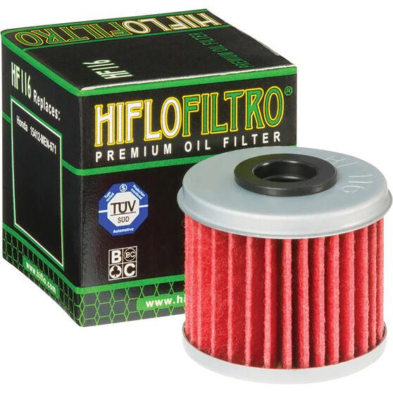 Motorcycle Oil Filter - HF116, , scanz_hi-res