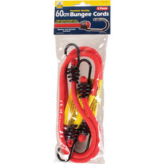 Bungee Cord, Metal Hook - 60cm, 2 Pack, , scanz_hi-res
