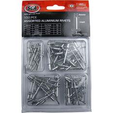 Aluminium Rivets - 100pce, Assorted, , scanz_hi-res