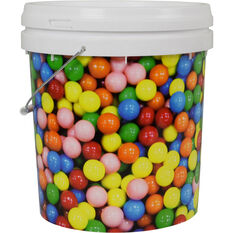 Designer Pail Bucket 'Gum Ball' - 15L, , scanz_hi-res