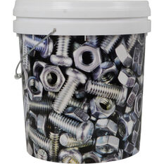 Designer Pail Bucket 'Nus & Bolts ' - 15L, , scanz_hi-res