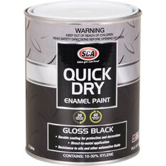 Quick Dry Enamel Black 1 Litre, , scanz_hi-res